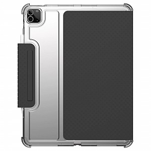 """UAG [U] Lucent for iPad Pro 12.9"""" ( 5th Gen / 2021 ) M1 Chip Case - Black / Ice (Barcode: 810070360214 )"""